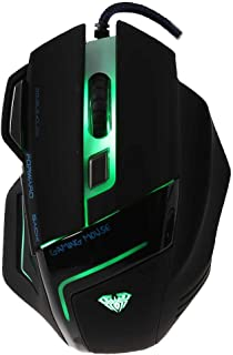 Aula 2000 DPI Professional USB Wired Optical 7 Buttons Self-Defining Gaming Mouse