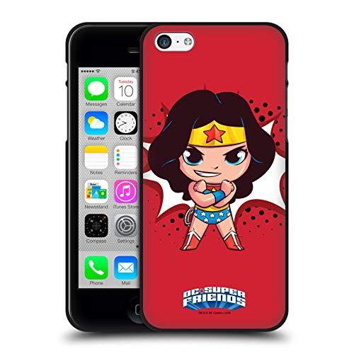 Head Case Designs Ufficiale Super Friends DC Comics Wonder Woman Bambini 1 Cover Nera in Morbido Gel Compatibile con Apple iPhone 5 / iPhone 5s / iPhone SE 2016