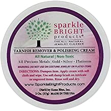 Sparkle Bright All-Natural Jewelry Cleaner – Tarnish Remover & Polishing Cream   Gold, Silver Jewelry Cleaning (2oz Jar)