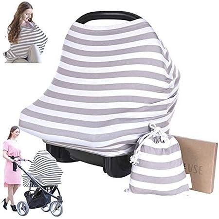 Dais pour siège-auto - Dais pour siège-auto KeaBabies - Couverture d'allaitement tout-en-un - Dais pour siège-auto pour bébés garçons et filles … (BFF Gris)