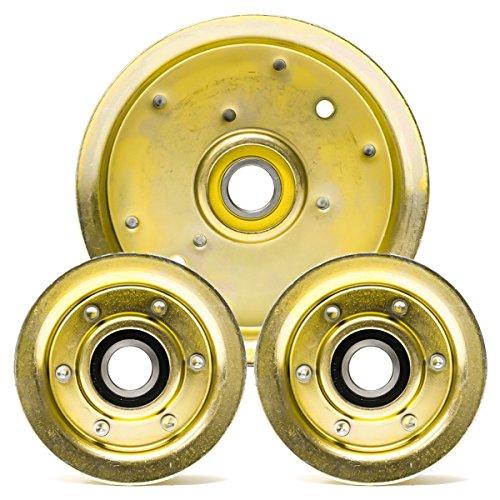 Le kit de réparation avec lames de rechange est compatible avec les tondeuses John Deere de 122 cm. Compatibilité : GY20110, GY20629, GY20067, GY22172.