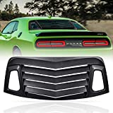 CUMART Rear Window Louver Windshield Sun Shade Cover ABS Black Compatible with...