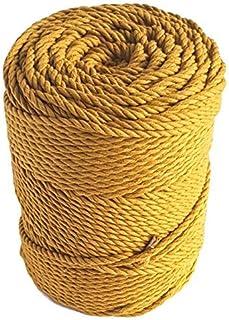 Mustard Macrame Cord 4mm Cotton Cord 460 feet Macrame Rope 153 Yard Cotton Rope