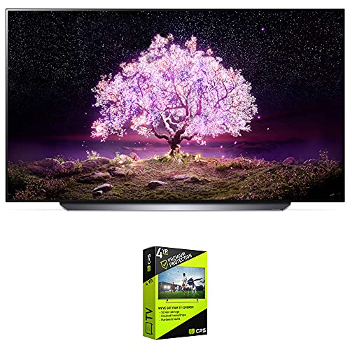 lg 65 inch oled tvs LG OLED65C1PUB 65 Inch 4K Smart OLED TV with AI ThinQ (2021 Model) Bundle with Premium 4 Year Extended Protection Plan
