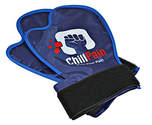 Cold Therapy Reusable Ice Pack Glove for Sore Hands by ChillPain. ChillPain Ice Pack Gloves are Exclusively Designed for Women and Men with Small to Medium Size Hands (1 Pair (2 Gloves))