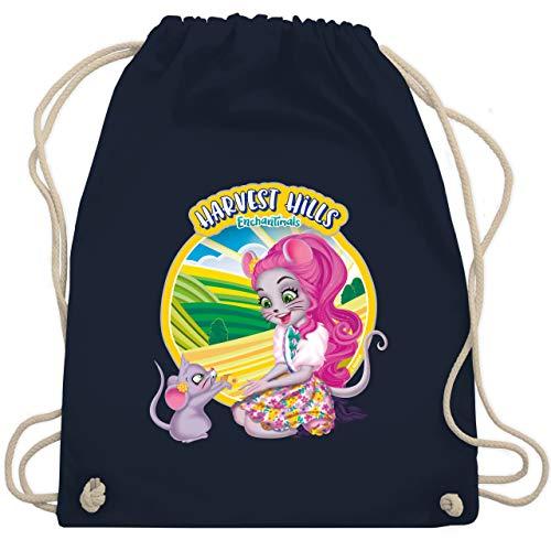 Shirtracer Enchantimals Tasche - Harvest Hills - Mayla Mouse - Unisize - Navy Blau - Bauernhof - WM110 - Turnbeutel und Stoffbeutel aus Baumwolle