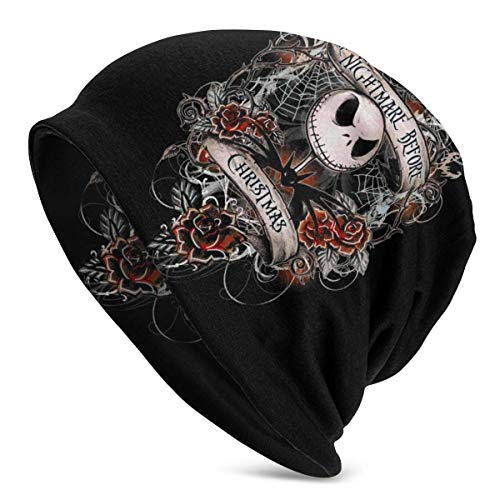 AshleySSnavely The Nightmare Before Christmas Unisex Adult Knit Hats Beanie Hat Winter Warm Printing Skull Cap Black