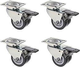 4 x Premium strandstoelwielen, dubbele wielen, geschikt voor gazon met rem, draagkracht 320 kg