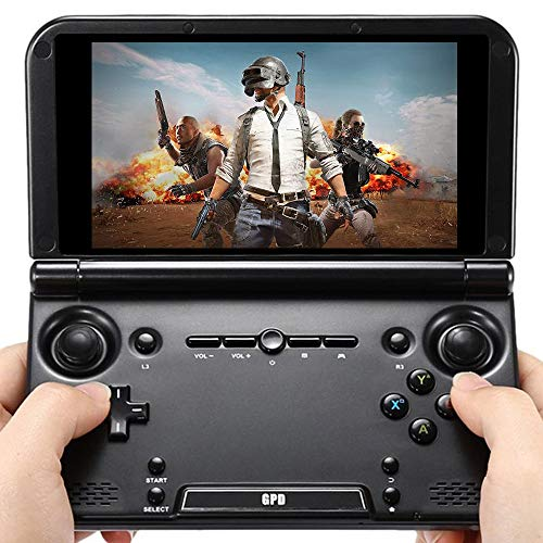GPD XD Plus [Latest HW Update]-Support Google Service-5' Touchscreen Foldable Handheld Video Game Console Android 7.0 Portable Gaming Console MT8176 Hexa-core CPU,PowerVR GX6250 GPU,4GB/32GB