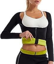 UXZDX Nieuwe Vrouwen Neopreen Gewichtsverlies Top Hot Sweat Workout Lange Mouw T Shirt Body Shaper Sauna Pak Vetverbrander...