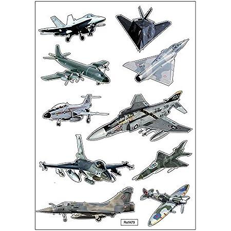 Maildor CY113C Un sachet de gommettes 3D Cooky 1 planche 7,5x12cm Avions 25 stickers