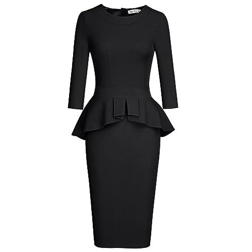 Peplum Black Dress Amazon