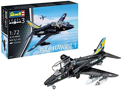 Revell RV04970 04970 BAE Hawk T.1, Flugzeugmodellbausatz 1:72, 16,1 cm Modellbausatz für Einsteiger, unlackiert