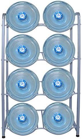 5 Gallon Water Jug Rack 4 Tier Water Jug Holder Storage Rack for 8 Bottles 4 Trays Detachable product image
