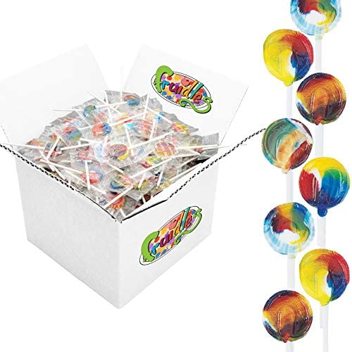 Lollipops Suckers Sugar Free Pediatric Rainbow Tooty Fruity Flavor Kosher Individually Wrapped product image