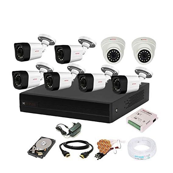 Cp Plus 8 Channal HD DVR 1080p 1Pcs,Outdoor Camera 2.4 MP 6Pcs,Indoor Camera 2.4 MP 2Pcs,1 TB Hard Disk,Full Combo Set