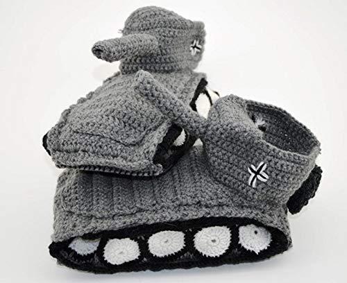 Original Panzer Schuhe Hausschuhe Pantoffeln Handarbeit Grau Weiß Gr 40-43 Neu