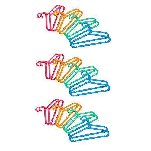 Ikea BAGIS Childrens coat-hanger assorted colors- 24 Pack by BAGIS