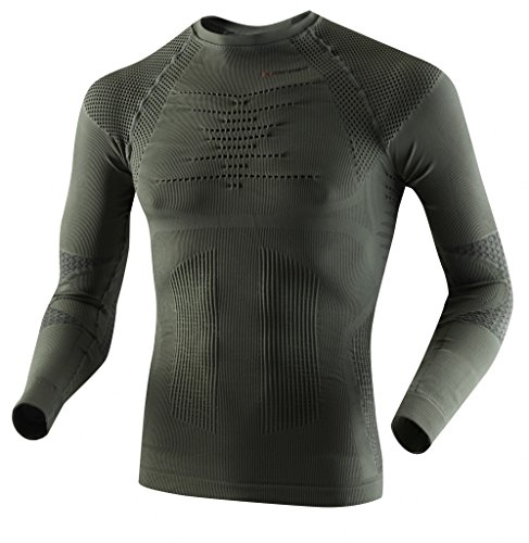 X-Bionic imperméable pour Adulte Chasse UW LG SL t-Shirt Sage Green i020239/anthracite XXL