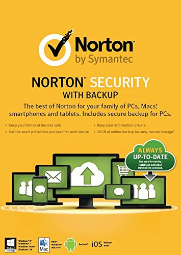Norton Security with Backup 2.0 25Gb in 1 User 10 Devices Card [2015] [import anglais]