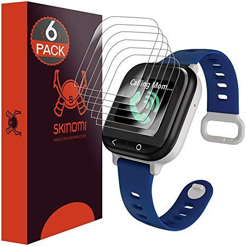 Skinomi TechSkin [6-Pack] Clear Screen Protector for Verizon GizmoWatch [Full Coverage] Anti-Bubble HD TPU Film