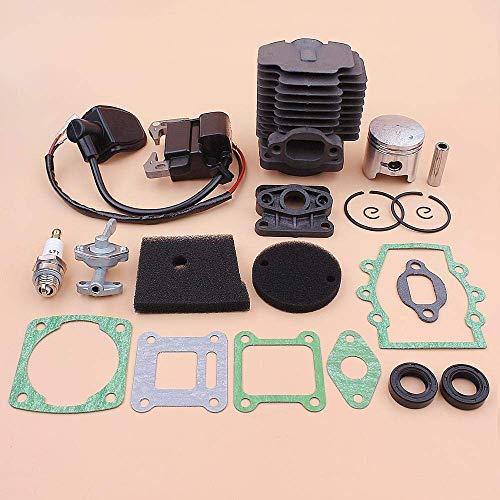HaoYueDa Kit de Bobina de Encendido de pistón de Cilindro de 40 mm para Robin NB411 EC04 CG411, Conjunto de Juntas de Sello de Aceite de colector de admisión de Elemento de Filtro de Aire