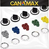 KN002 RKE Electric Range Knob Kit Premium Replacement by Canamax - Compatible with Whirlpool Oven and Range Brand - Replaces RK103, MA-XP6, AP5641247