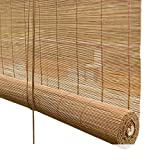 HDGZ Bamboo Blinds Window Roll Up Blind Shade for Garden Patio Gazebo Exterior Blackout, 40% Sunblock UV Resistant, 90cm/ 100cm/ 110cm Wide (Size, 80×200cm(W×H)),150×225cm(W×H)