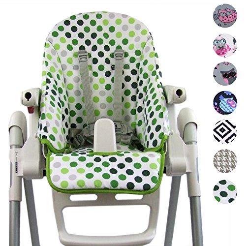 Bambiniwelt - Funda de repuesto, cojín de asiento, funda para Peg Perego Zero3 y Siesta Design (puntos pistachos) XX