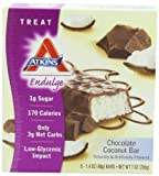 Atkins Endulge Bars, Chocolate Coconut, 5-Count 1.4-Ounce Bars (Pack of 3)