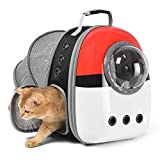 Jerrycat pet Carrier Backpack and Puppy Backpack,Expandable Breathable cat Backpack,Space Capsule cat Backpack Suitable for Travel, Hiking, Walking and Outdoor Activities, Light and Spacious
