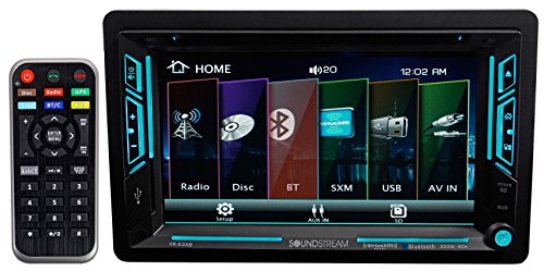 "Soundstream VR-63XB 6.2"" Touchscreen 2-DIN DVD, CD/MP3, AM/FM Receiver w/ Bluetooth 4.0 & SiriusXM Ready."