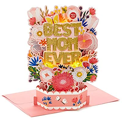 Hallmark Paper Wonder Mothers Day Pop Up Card with Light and Sound (Best Mom Ever)
