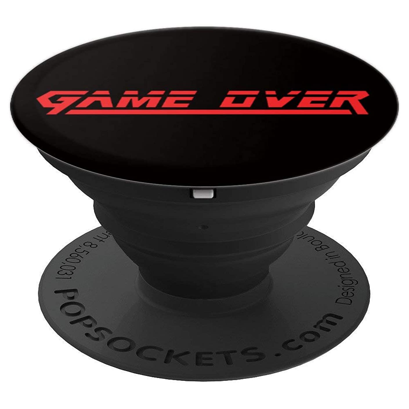 ROCKSTAR MGS Gear - Game Over - Solid Red Text - Video Games PopSockets Grip and Stand for Phones and Tablets