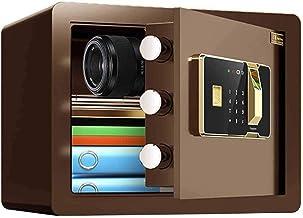 Burglary Digital Security Safe Box Fingerprint Electronic Password Safe Biometric Wall Safe Lock Box Cash Strongbox,Brown ...