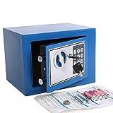 Yuanshikj Electronic Deluxe Digital Security Safe Box Keypad Lock Home Office Hotel Business Jewelry Gun Cash Use Storage (Blue, 17E)