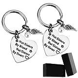 Premium-Schwester-Schlüsselanhänger - Nicht Schwestern von Blut, sondern Schwestern von Herzen Schwester Geburtstag Geschenk Freundin Freundschaft Geschenk Schlüsselanhänge (2 Stück-a)