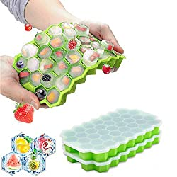 professional Ice cube tray with lid, 2 pieces, silicon mini ice cube tray, flexible ice cube tray with 74 trays …