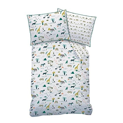 Matt&Rose Ropa de cama de animales 140 x 200 · Ropa de cama para niños con animales del zoo y la...