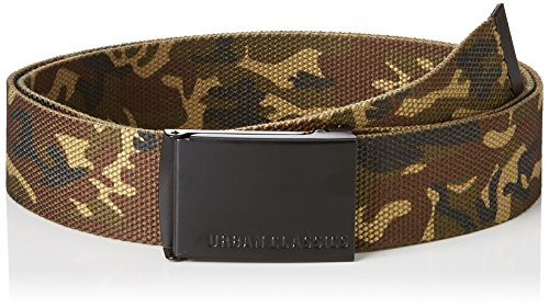 Urban Classics Unisex Canvas Belt Gürtel, woodcamo/blk, one size