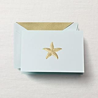 Crane & Co. Engraved Starfish Note- Pack of 15 Cards
