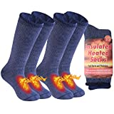 Thermal Hiking Socks, Time and River Winter Warm Insulated Socks for Extreme Cold Indoors Lounge...