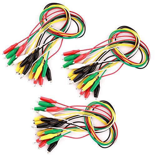 Gebildet Cables de prueba de 30 piezas con pinzas de cocodrilo Juego de cables de prueba aislados Clips de doble extremo (50 cm)