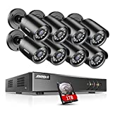 ANNKE 8CH 5MP H.265+ CCTV Camera System w/1TB HDD, 8x 2.0MP Security Outdoor