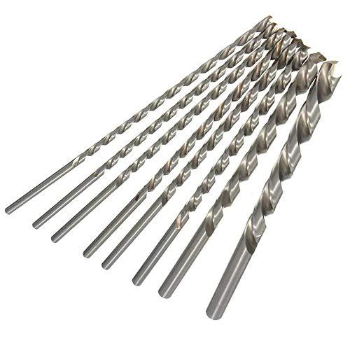 Haobase 8pc 4-10mm HSS Twist Drill Bit Extra Long 200mm Straight Shank Drill Bit