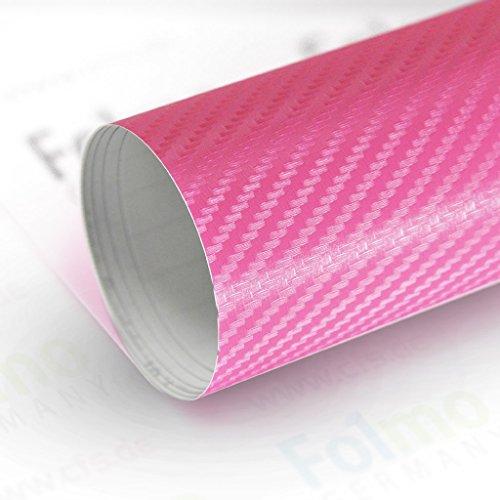 33,04€/m² Auto Folie Streifen Glanz, Matt, Carbonfolie mit Luftkanal (Carbon Pink 50x121cm)