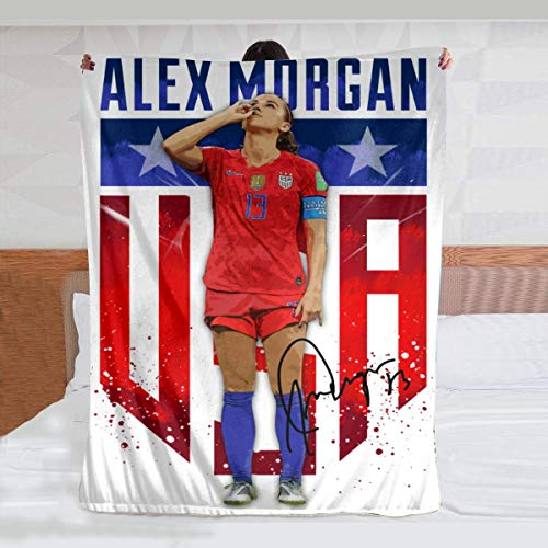 Wahom Alex Morgan Sipping Tea Luxury Comfortable Super Soft and Fluffy Home Flannel Plush Throw Blanket to Keep Warm with (6050inch)