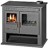 Estufa de leña Cocina Chimenea para Sistema de Calefacción Central Horno Cocinar Caldera Integral Descargador térmico Combustible Sólido 9 Kw Victoria