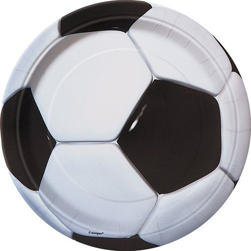 Pappteller - 18 cm - Fußballparty - Packung mit 8 Stück