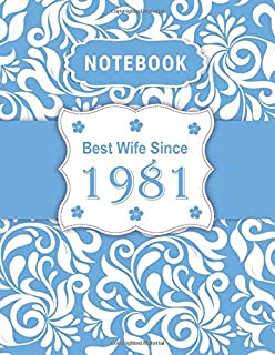 Notebook - Best Wife Since 1981: 38th Wedding Anniversary Gift for Her - Thirty-Eight year Wedding Anniversary Gift for Wife Couple Married in 1981 ( 8.5 x 11 inches - 108 Pages )